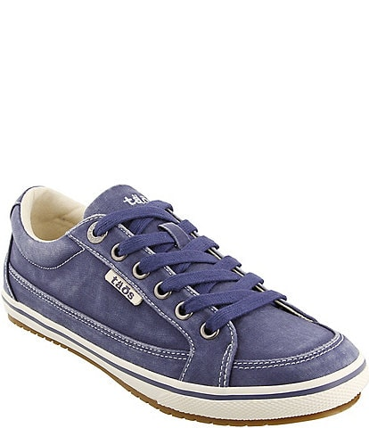 Taos Footwear Moc Star Washed Canvas Sneakers