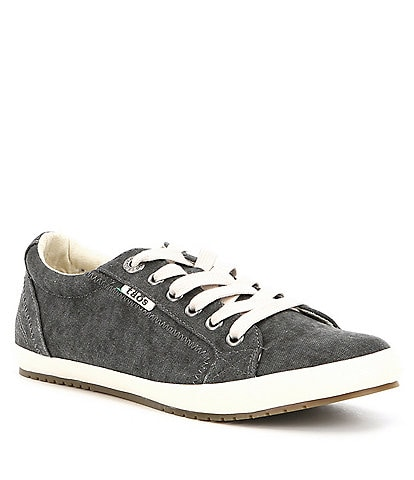 Taos Footwear Star Washed Canvas Lace-Up Sneakers