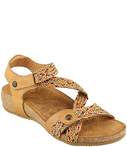 Taos Footwear Trulie Woven Leather Sandals
