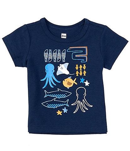Tea Collection Baby Boys 3-24 Months Short-Sleeve Porto Sealife Graphic Tee