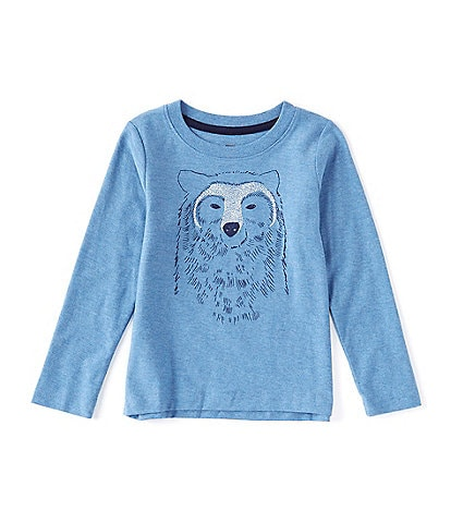 Tea Collection Little Boys 2-6 Long-Sleeve Bear Buddy Graphic Tee