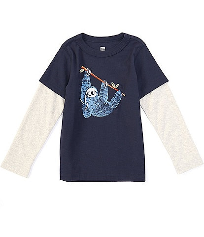 Tea Collection Little Boys 2-6 Long-Sleeve Hanging Out Layered Tee