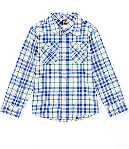 Tea Collection Little Boys 2-6 Long-Sleeve Plaid Flannel Button-Front Shirt