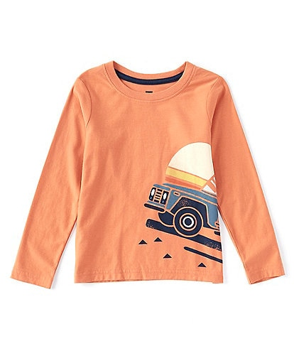 Tea Collection Little Boys 2-6 Long-Sleeve Roadtrip Graphic Tee