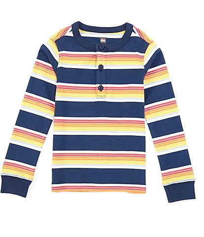 Tea Collection Little Boys 2-6 Long-Sleeve Stripe Henley Tee
