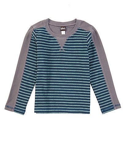 Tea Collection Little Boys 2-6 Long-Sleeve Striped Sporty Tee