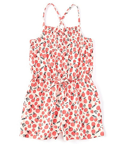 Tea Collection Little Girls 2-6 Smocked Printed Romper