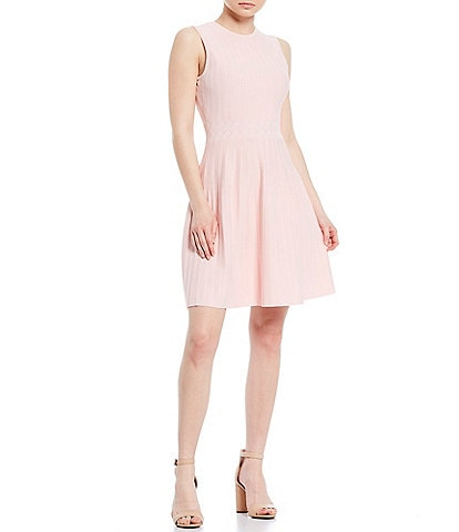 Ted Baker London Balieey Fit & Flare Knit Sleeveless Dress