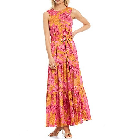 Ted Baker London Bambia Floral Print Tiered Maxi Swing Dress