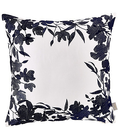 Ted Baker London Bluebell Embroidered Floral Square Pillow