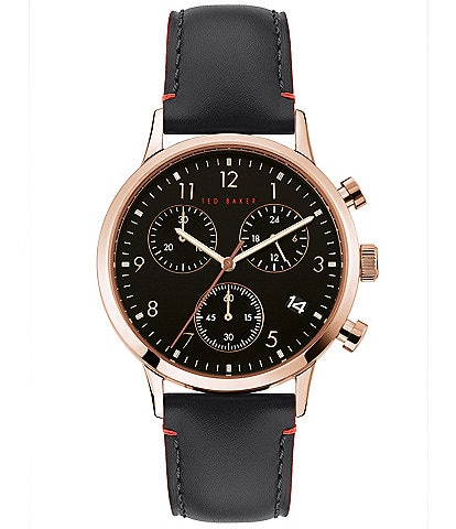Ted Baker London Cosmop Black Chronograph Watch
