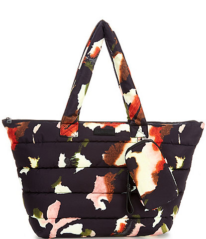 Ted Baker London Giana Forager Watercolour Nylon Puffer Tote Bag