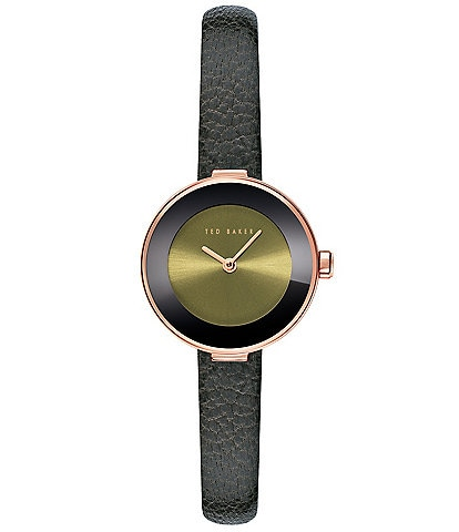 Ted Baker London Lenara Leather Black Three-Hand Watch
