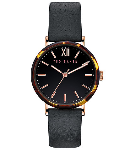 Ted Baker London Phylipa Black Tortoise Three-Hand Watch