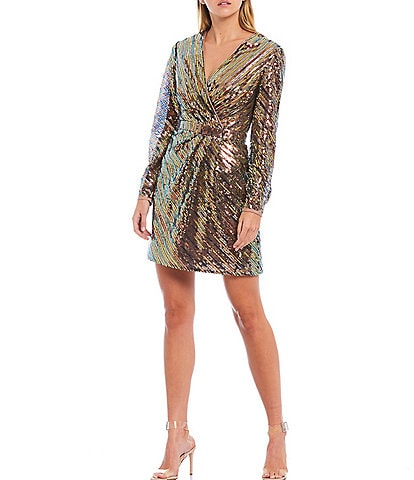 Ted Baker London Pipii Sequin V-Neck Mini Dress