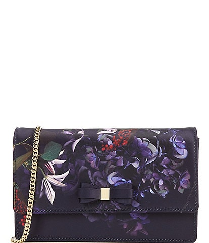 Ted Baker London Pomegranate Floral Bow Evening Crossbody Bag
