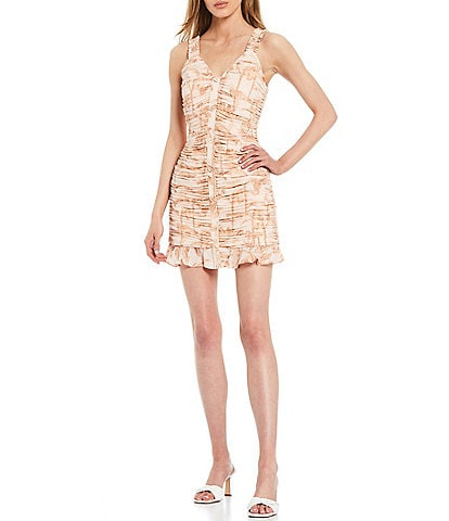 Ted Baker London Rrosiee Ruched Front Sleeveless Mini Dress