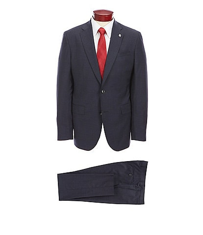 Ted Baker London Slim Fit Mini Check Wool Suit