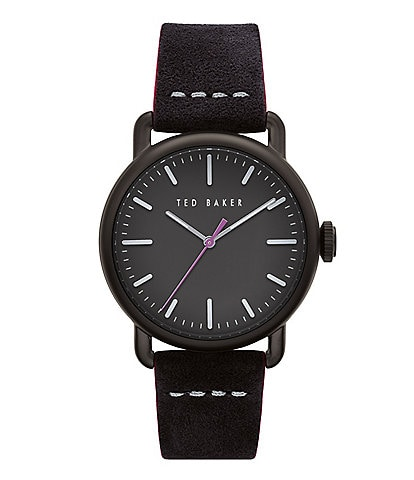 Ted Baker London Tomcoll Black Three-Hand Watch