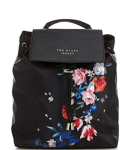 Ted Baker London Vall Floral Nylon Drawstring Backpack