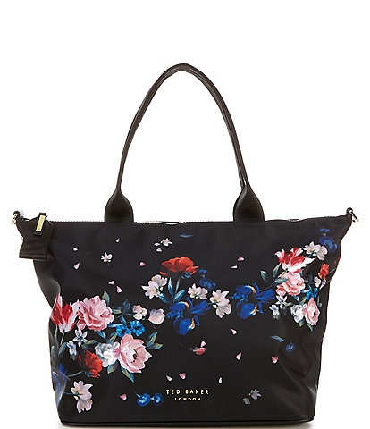 Ted Baker London Vannya Sandalwood Floral Nylon Small Tote Bag