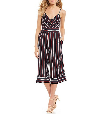Teeze Me Knot-Front Striped Jumpsuit