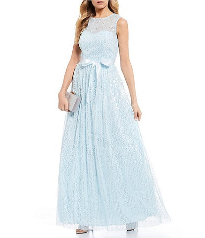 Teeze Me Sleeveless Sequin Tank Ball Gown
