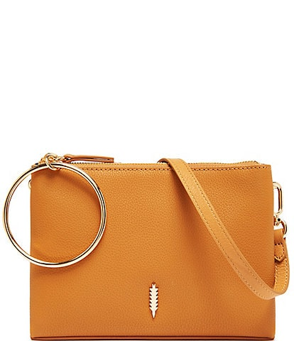 Thacker Donna Ring Handle Leather Crossbody Bag