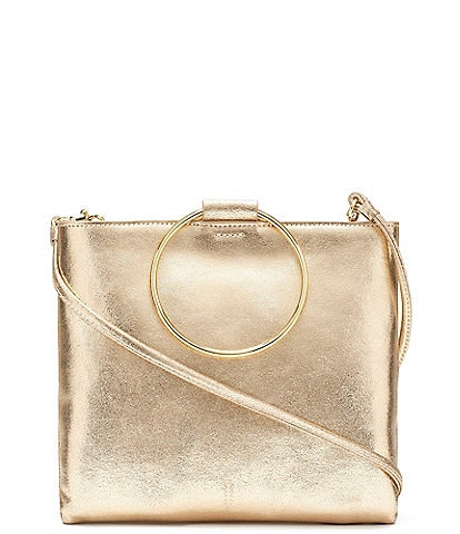 Thacker Le Pouch Metallic Ring Handle Crossbody Bag