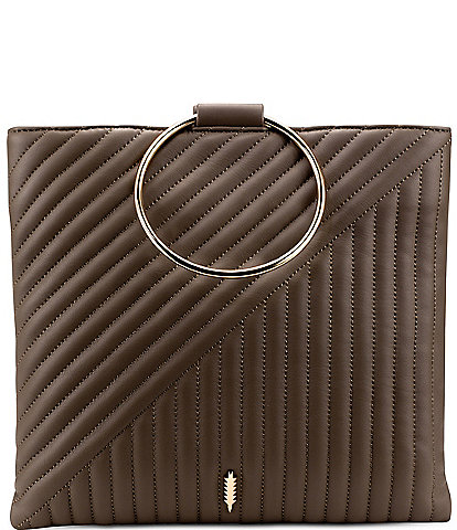 Thacker Le Pouch Ring Handle Quilted Crossbody Bag