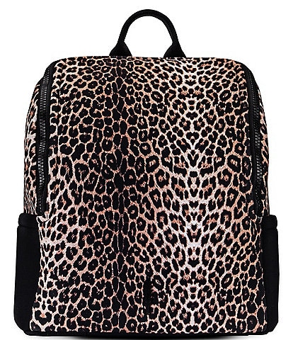 Thacker Maddy Snow Leopard Printed Backpack