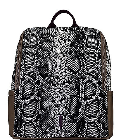 Thacker Maddy Snake Print Zippered Backpack