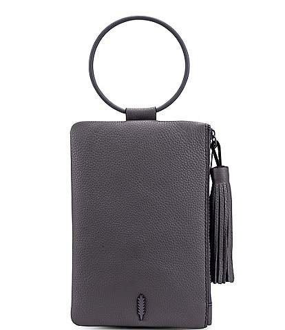 Thacker Nolita Leather Ring Handle Clutch Bag