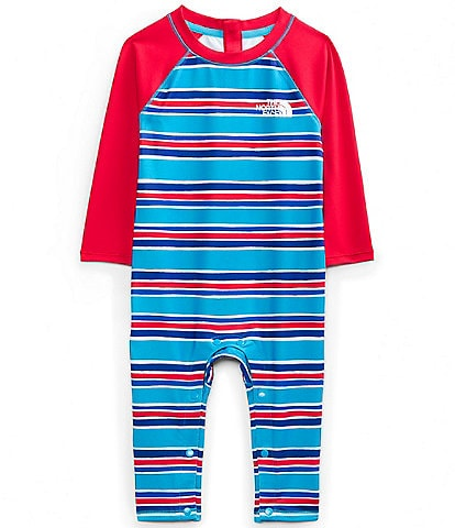 The North Face Baby Boys 3-24 Months Long-Sleeve Painted Stripe Sunsuit
