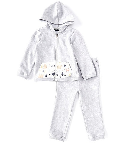 The North Face Baby Boys Newborn-24 Months Solid/Print Camp Fleece Hoodie & Jogger Pant Set
