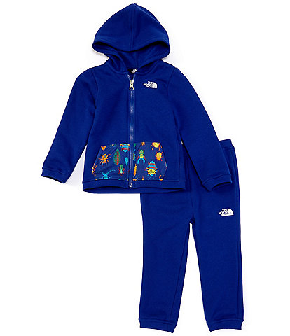 The North Face Baby Boys Newborn-24 Months Solid/Wanderer Camp Fleece Hoodie & Jogger Pant Set