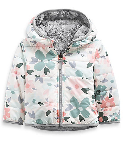 The North Face Baby Girls Newborn-24 Months Polka-Dot Floral Reversible Mossbud Swirl Jacket