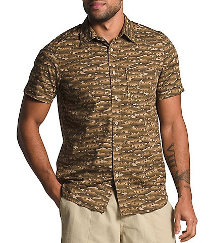 The North Face Baytrail Pattern Trout-Print Short-Sleeve Woven Shirt