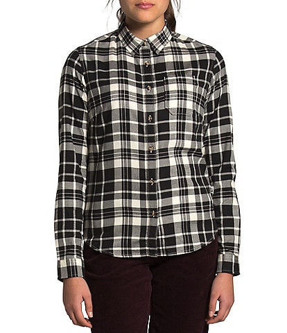 The North Face Berkeley Long Sleeve Flannel Plaid Button Front Girlfriend Shirt