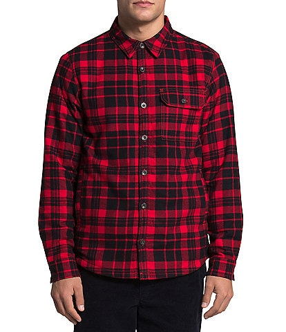The North Face Campshire Plaid Long-Sleeve Sherpa Lined Shirt Jacket