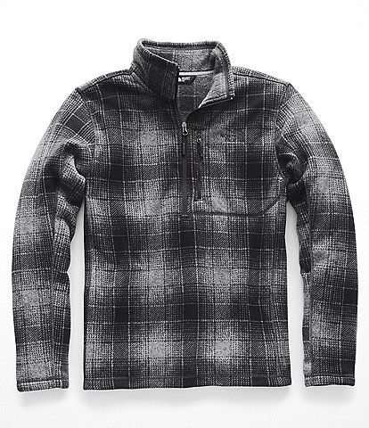 The North Face Fleece Quarter Zip Gordon Lyons Ombre Plaid Print Pullover