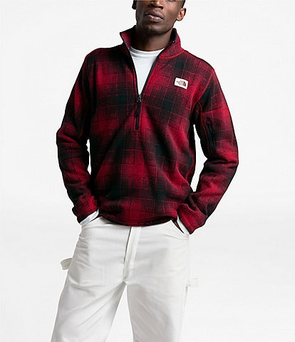 The North Face Gordon Lyons Ombre Plaid Zip Pullover