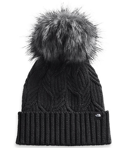 The North Face Ladies' Oh-Mega Faux-Fur Pom Beanie