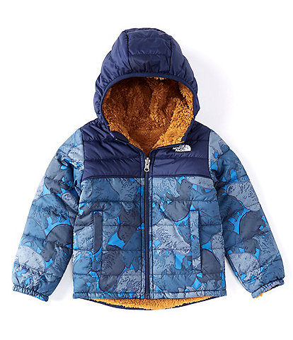 The North Face Little Boys 2T-6 Bear Camo Reversible Sherpa Fleece Mount Chimborazo Hoodie