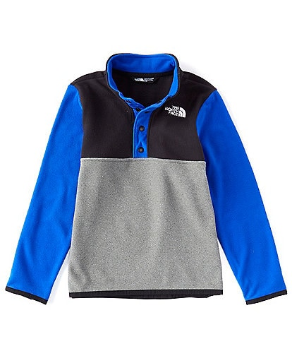The North Face Little Boys 2T-6T Colorblock Glacier 1/4 Snap Pull-Over Jacket