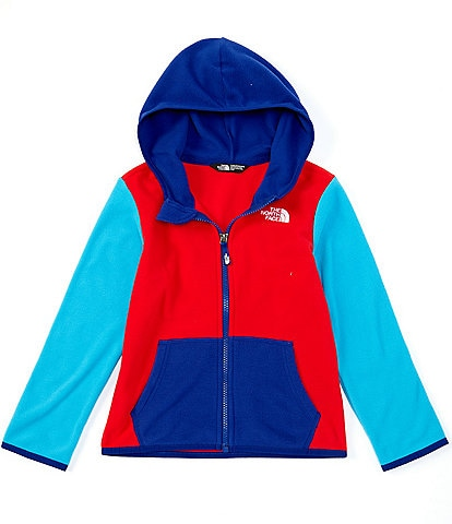 The North Face Little Boys 2T-6T Red/Blue Colorblock Glacier Full-Zip Hoodie