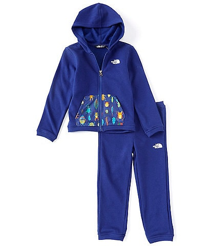 The North Face Little Boys 2T-6T Solid/Wanderer Camp Fleece Hoodie & Jogger Pant Set