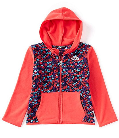 The North Face Little Girls 2T-6T Colorblock/Floral Glacier Fleece Hoodie