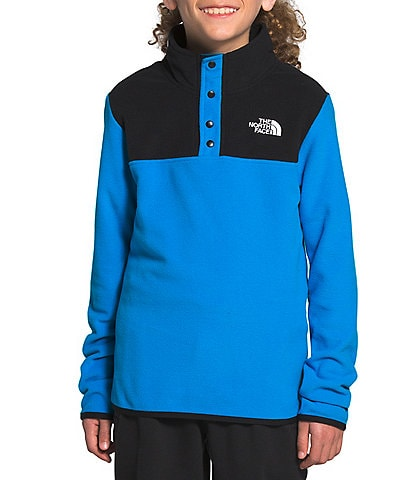 The North Face Little/Big Boys 5-20 Colorblock Glacier 1/4 Snap Pull-Over Jacket