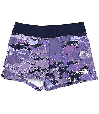 The North Face Little/Big Girls 5-18 Cloud Camo On Mountain Shorts
